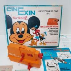 Juguetes antiguos Exin: CINEXIN NARANJA COMPLETO Y FUNCIONANDO. Lote 243915800