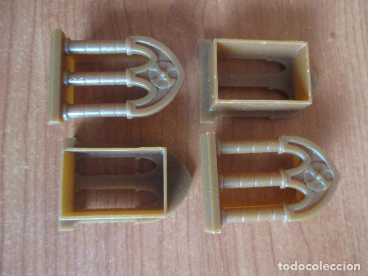 Juguetes antiguos Exin: EXIN CASTILLOS PDJ: LOTE 4 VENTANAS MARRONES DE ESTILO GOTICO - Foto 3 - 288657013