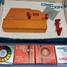 Brinquedos antigos Exin: ANTIGUO CINE EXIN EN CAJA CON 5 PELICULAS FUNCIONA ORIGINAL AÑOS 70. Lote 251960560