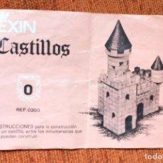Juguetes antiguos Exin: EXIN CASTILLOS - INSTRUCCIONES REF. 200 - NÚMERO 0 - JYA120. Lote 252406390