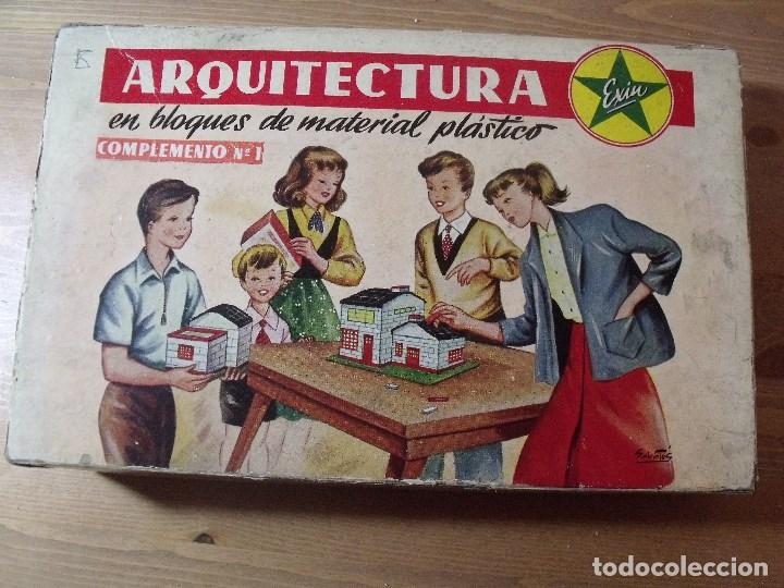 ARQUITECTURA EXIN EN BLOQUES DE MATERIAL PLASTICO AÑOS 50-60 COMPLEMENTO Nº 1 (Juguetes - Marcas Clásicas - Exin)