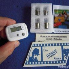 Juguetes antiguos Exin: PACK LOTE DE 4 BOMBILLAS DE 3,8V LAMPARAS DE PROYECCIÓN PARA EL SUPER CINEXIN + REGALO!!!. Lote 254504635