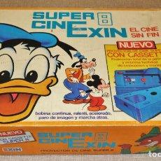 Juguetes antiguos Exin: PROYECTOR CINE SUPER 8 CINE EXIN -CINEXIN- EN CAJA. + 4 PELICULAS. Lote 261858560