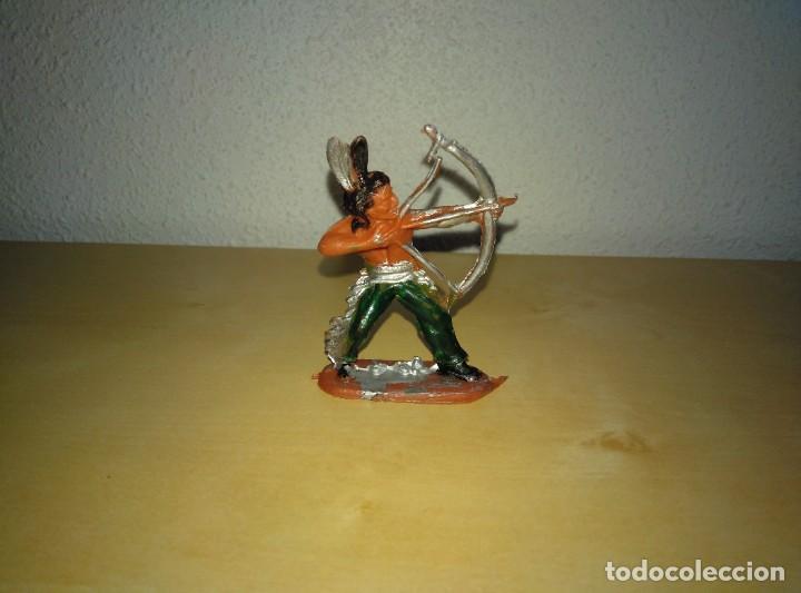 Juguetes antiguos Exin: 6 Figuras de plástico pintados. Indios y vaqueros. Ideal para dioramas Exin west - Foto 3 - 261926890