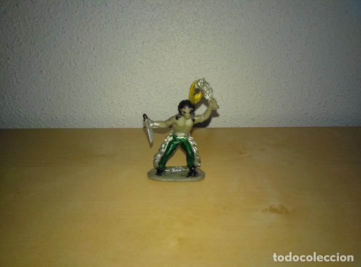 Juguetes antiguos Exin: 6 Figuras de plástico pintados. Indios y vaqueros. Ideal para dioramas Exin west - Foto 5 - 261926890