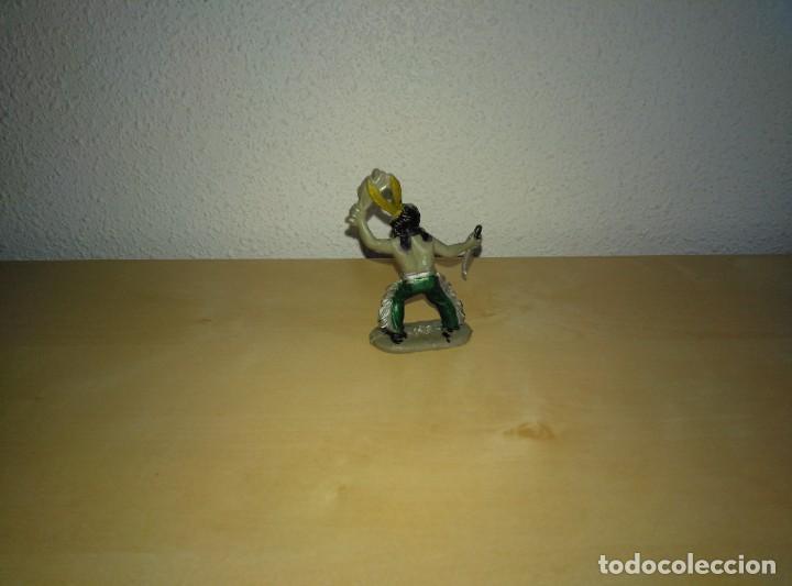 Juguetes antiguos Exin: 6 Figuras de plástico pintados. Indios y vaqueros. Ideal para dioramas Exin west - Foto 6 - 261926890