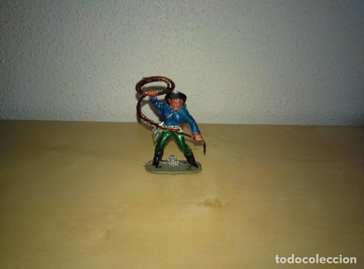 Juguetes antiguos Exin: 6 Figuras de plástico pintados. Indios y vaqueros. Ideal para dioramas Exin west - Foto 7 - 261926890
