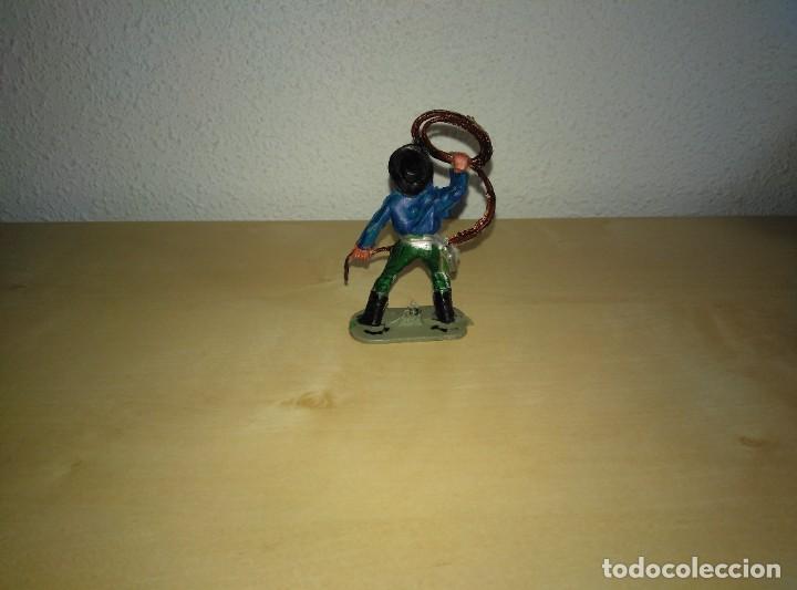 Juguetes antiguos Exin: 6 Figuras de plástico pintados. Indios y vaqueros. Ideal para dioramas Exin west - Foto 8 - 261926890