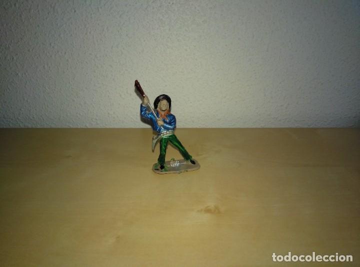 Juguetes antiguos Exin: 6 Figuras de plástico pintados. Indios y vaqueros. Ideal para dioramas Exin west - Foto 9 - 261926890