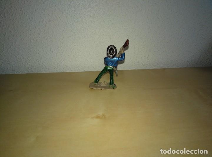 Juguetes antiguos Exin: 6 Figuras de plástico pintados. Indios y vaqueros. Ideal para dioramas Exin west - Foto 10 - 261926890