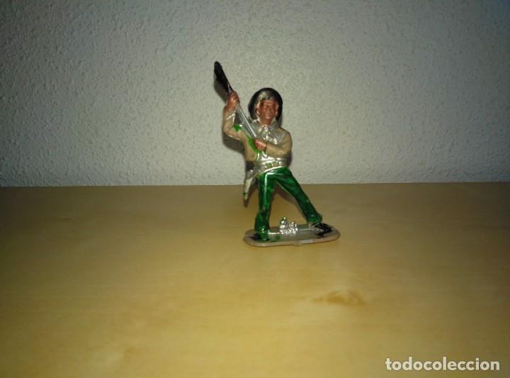 Juguetes antiguos Exin: 6 Figuras de plástico pintados. Indios y vaqueros. Ideal para dioramas Exin west - Foto 12 - 261926890
