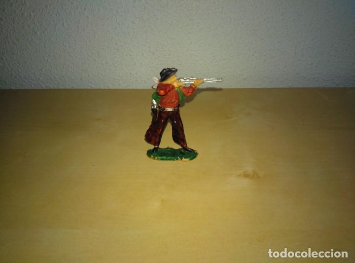 Juguetes antiguos Exin: 6 Figuras de plástico pintados. Indios y vaqueros. Ideal para dioramas Exin west - Foto 13 - 261926890