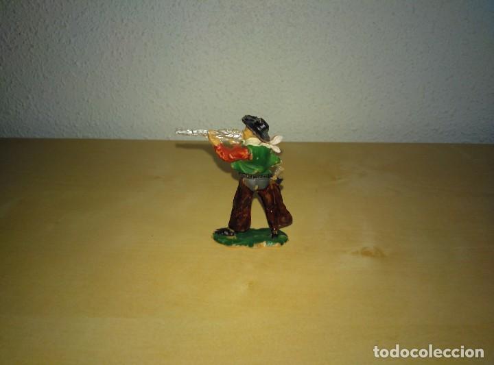Juguetes antiguos Exin: 6 Figuras de plástico pintados. Indios y vaqueros. Ideal para dioramas Exin west - Foto 14 - 261926890