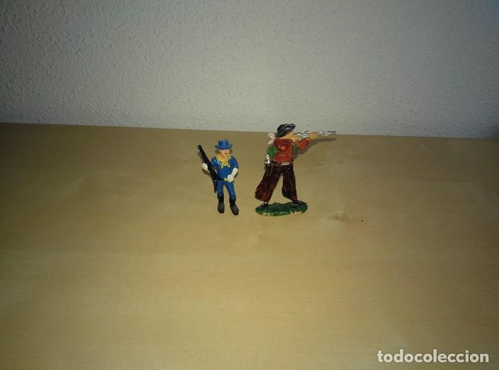 Juguetes antiguos Exin: 6 Figuras de plástico pintados. Indios y vaqueros. Ideal para dioramas Exin west - Foto 15 - 261926890