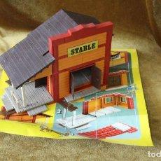 Brinquedos antigos Exin: EXIN WEST, STABLE, COMPLETO, CON HOJA DE INSTRUCCIONES. Lote 268450364
