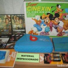 Juguetes antiguos Exin: SUPER CINEXIN,EL CINE SIN FIN PROYECTOR COMPLETO 1983 FUNCIONANDO + REGALOS!. Lote 269073718