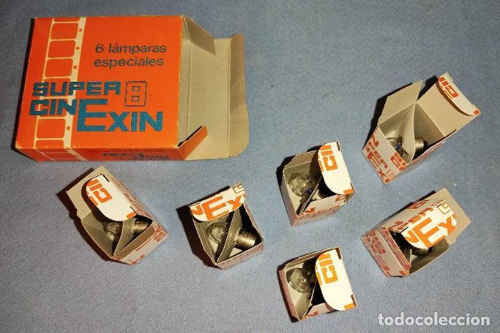 Juguetes antiguos Exin: ANTIGUA CAJA A ESTRENAR DE 6 LAMPARAS BOMBILLAS ESPECIALES CINE EXIN SUPER 8 - Foto 3 - 269276818