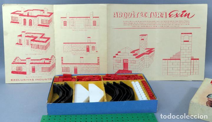 Juguetes antiguos Exin: Arquitectura Exin caja con catálogo modelos instrucciones años 50 - 60 dibujo Sabatés buen estado - Foto 4 - 269415183