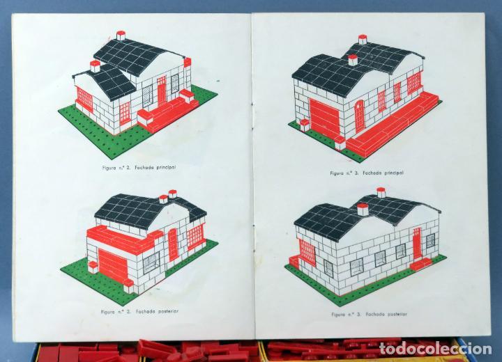 Juguetes antiguos Exin: Arquitectura Exin caja con catálogo modelos instrucciones años 50 - 60 dibujo Sabatés buen estado - Foto 7 - 269415183