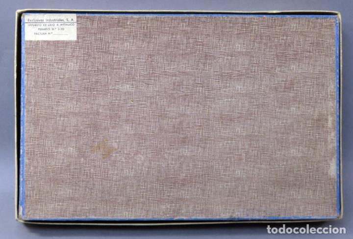 Juguetes antiguos Exin: Arquitectura Exin caja con catálogo modelos instrucciones años 50 - 60 dibujo Sabatés buen estado - Foto 8 - 269415183