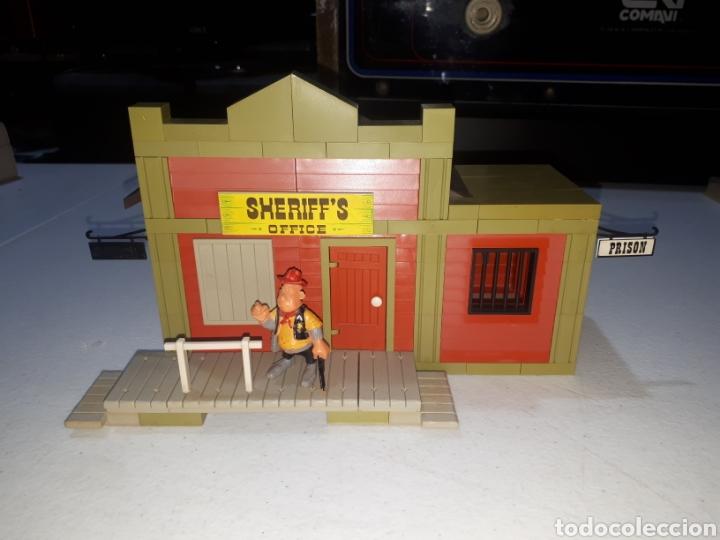 Juguetes antiguos Exin: EXIN FAR WEST OFICINA DEL SHERIFF COMPLETA ORIGINAL - Foto 2 - 269454733