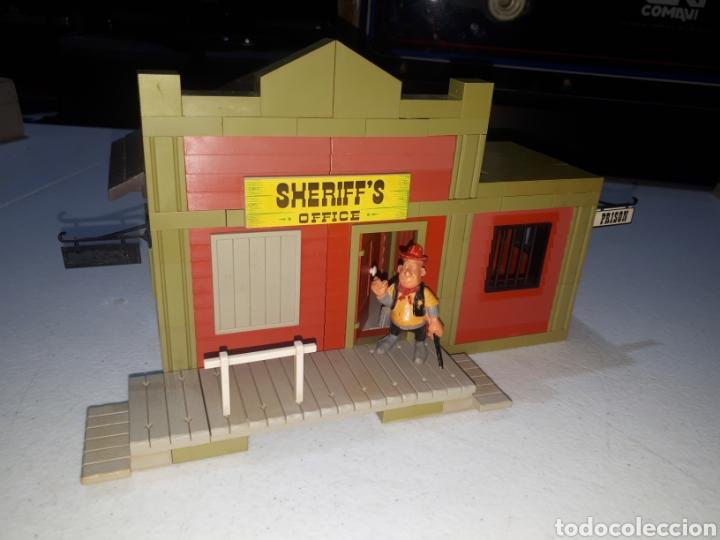 EXIN FAR WEST OFICINA DEL SHERIFF COMPLETA ORIGINAL (Juguetes - Marcas Clásicas - Exin)