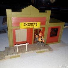 Juguetes antiguos Exin: EXIN FAR WEST OFICINA DEL SHERIFF COMPLETA ORIGINAL. Lote 269454733