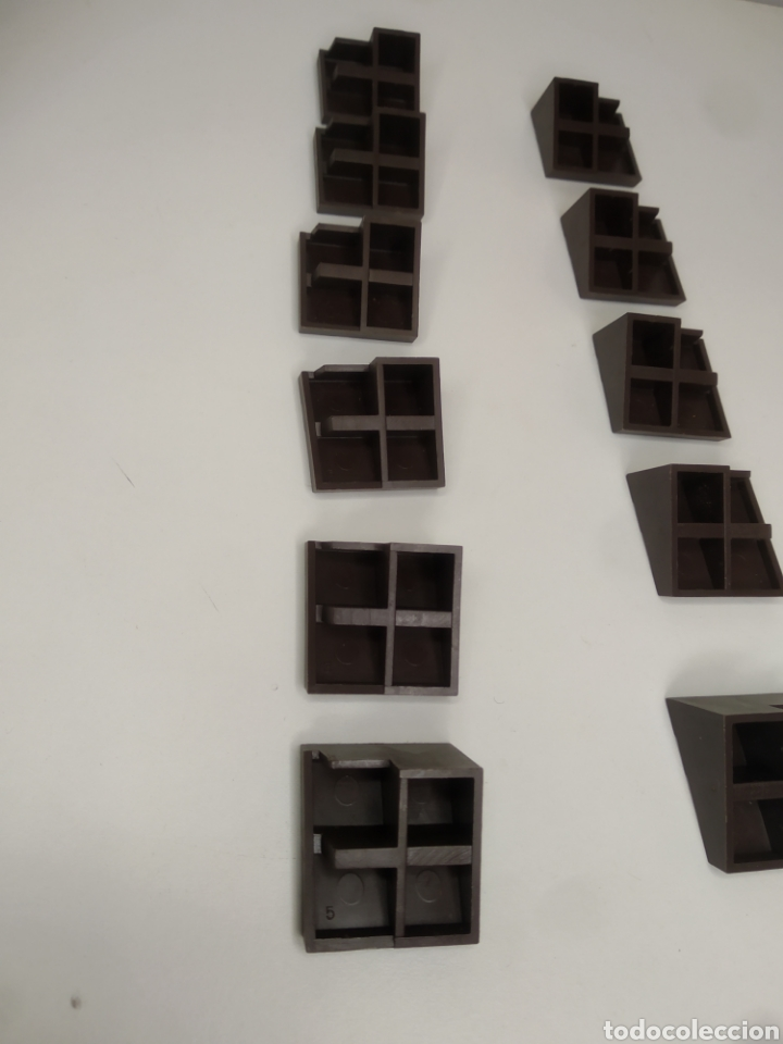 Juguetes antiguos Exin: PIEZAS TEJADO EXIN WEST. 11 UNIDADES. - Foto 9 - 269574083