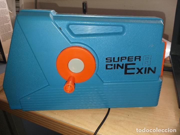 CINEXIN CIN EXIN CINE EXIN AZUL +4PELICULAS (Juguetes - Marcas Clásicas - Exin)