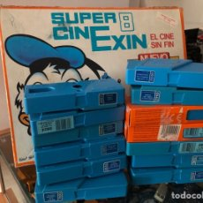 Juguetes antiguos Exin: SUPER CINE EXIN 8 CON 12 CARTUCHOS PELICULA VER RELACION PELICULAS. Lote 275100458