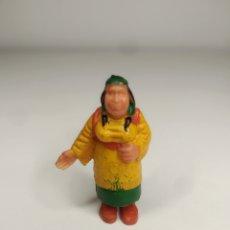 Brinquedos antigos Exin: FIGURA EXIN WEST INDIA CON NIÑO.. Lote 275157403