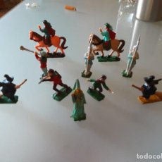 Juguetes antiguos Exin: 10 FIGURAS EXIN CASTILLOS. Lote 276379473