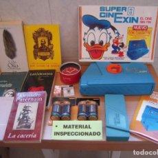Juguetes antiguos Exin: ENVIO: 7€ SUPER CINEXIN AZUL 1983 FUNCIONANDO + EXTRAS + REGALOS!. Lote 278343833