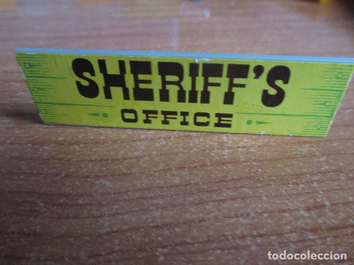 EXIN WEST AÑOS 70 : LETRERO CARTEL SHERIFF ´S OFFICE ( EXIN CASTILLOS ) (Juguetes - Marcas Clásicas - Exin)