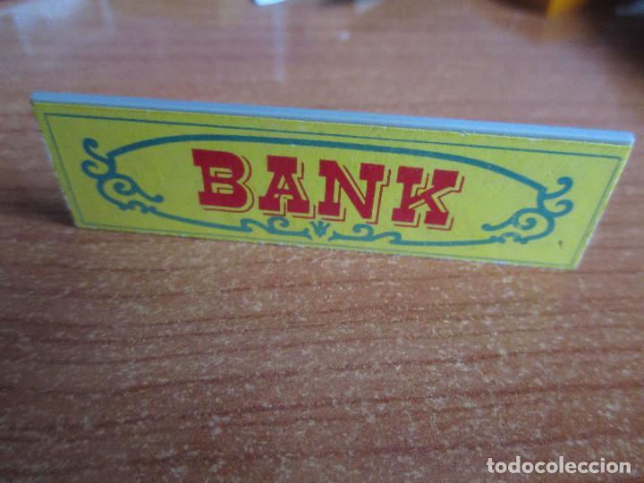 EXIN WEST AÑOS 70 : CARTEL BANK ( EXIN CASTILLOS ) (Juguetes - Marcas Clásicas - Exin)