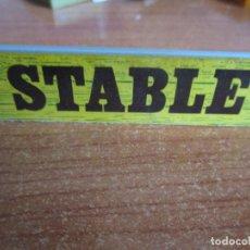 Juguetes antiguos Exin: EXIN WEST AÑOS 70 : CARTEL STABLE , ESTABLO ( EXIN CASTILLOS ). Lote 279498333