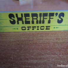 Juguetes antiguos Exin: EXIN WEST AÑOS 70 : LETRERO CARTEL SHERIFF ´S OFFICE ( EXIN CASTILLOS ). Lote 279498393