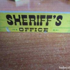 Juguetes antiguos Exin: EXIN WEST AÑOS 70 : LETRERO CARTEL SHERIFF ´S OFFICE ( EXIN CASTILLOS ). Lote 279498518