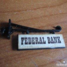 Juguetes antiguos Exin: EXIN WEST AÑOS 70 : CARTEL POR LAS DOS CARAS FEDERAL BANK ( EXIN CASTILLOS ). Lote 279501263