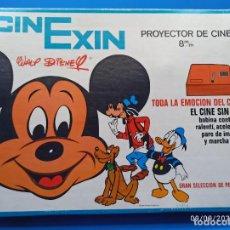 Juguetes antiguos Exin: CINEXIN NARANJA CON VARIAS PELICULAS. Lote 286739823