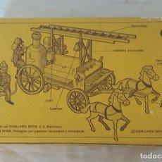Brinquedos antigos Exin: CAJA ORIGINAL DEL COCHE DE BOMBEROS DE EXIN WEST. Lote 287694708
