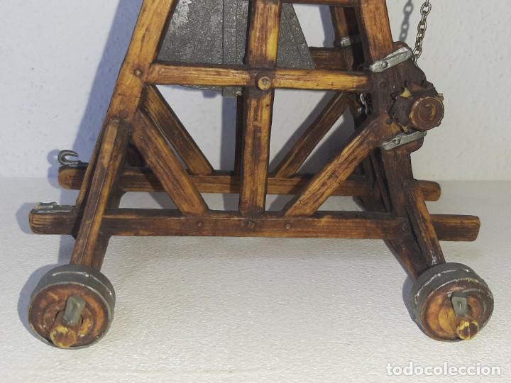 Juguetes antiguos Exin: ELASTOLIN : ANTIGUA CATAPULTA - HISTOREX - EXIN CASTILLOS MADE IN GERMANY AÑOS 70 - Foto 3 - 288604108