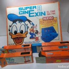 Juguetes antiguos Exin: SUPER CINEXIN 8 CON 6 PELICULAS CASSETES CON INTRUCCIONES Y FUNCIONANDO. Lote 289013653
