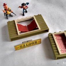 Juguetes antiguos Exin: EXIN WEST,LOTE DE PIEZAS Y FIGURAS. LAS FIGURAS SON NUEVAS.. Lote 289635003