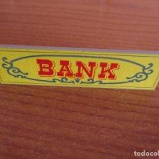 Juguetes antiguos Exin: EXIN WEST AÑOS 70 : 1 CARTEL BANK ( EXIN CASTILLOS ). Lote 293864778