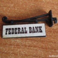 Juguetes antiguos Exin: EXIN WEST AÑOS 70 : 1 CARTEL FEDERAL BANK ( EXIN CASTILLOS ). Lote 293866128