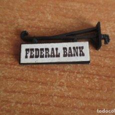 Juguetes antiguos Exin: EXIN WEST AÑOS 70 : 1 CARTEL FEDERAL BANK ( EXIN CASTILLOS ). Lote 293866248