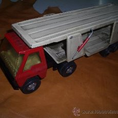Juguetes antiguos Gozán: CAMION COLOSO TRANSPORTA COCHES. Lote 16543417