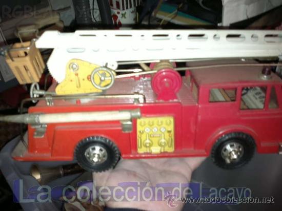 ANTIGUO CAMION DE BOMBEROS, DE HOJALATA, DE LA CASA GOZAN. AÑOS 60 (Juguetes - Marcas Clásicas - Gozán)