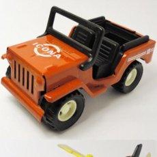 Juguetes antiguos Gozán - Lote de jeep Icona y helicóptero servicio carretera de Gozán, bomberos - 28596920